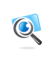 photo finder search camera logo vector image