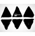 Set of grunge triangles vector image