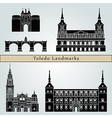 Toledo landmarks and monuments vector image