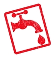Water Tap Icon Rubber Stamp vector image
