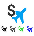aviation business flat icon vector image