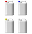 Plastic canister vector image
