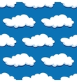 Blue cloudy sky seamless pattern vector image vector image