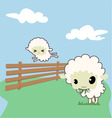 little sheep vector image vector image