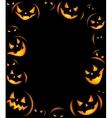 Frame of Grinning Halloween lanterns vector image