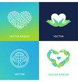 set of logo design templates and badges vector image
