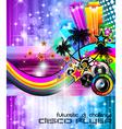 Beach Disco Party Poster vector image vector image