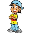 Boy With Arms Crossed vector image