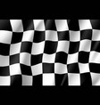 flag auto racing waving realistic banner vector image