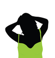 girl with green shirt vector image