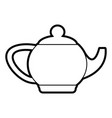 kettle or teapot icon image vector image