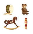 Set of colorful vintage christmas toys vector image