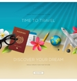 Tourism website template time to travel vector image