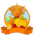 Thanksgiving Harvest Design vector image vector image