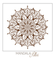 Monochrome Mandala Decorative round ornament vector image vector image