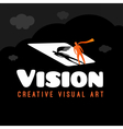 Vision Dream logo vector image