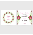 Wedding Postcard With Pink Flowers vector image