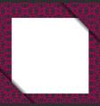 blank paper on violet geometric pattern vector image