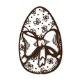 Egg with pattern vector image vector image