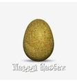 Gold glitter easter holiday egg vector image