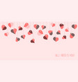 all i need is you card for valentines day vector image