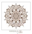 Monochrome Mandala Decorative round ornament vector image