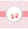 Pink Baby Shoes for Newborn Girl vector image