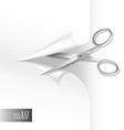 Scissors wih paper sheet vector image