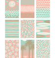 Set of summer vacation poster backgrounds vector image