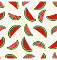 watermelon seamless pattern dessert texture with vector image