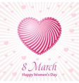 Womans day cards templates Women labels or vector image
