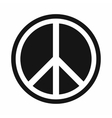 Sign hippie peace icon simple style vector image