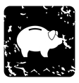 Pig money box icon grunge style vector image vector image