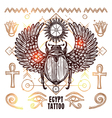 Egypt Occult Tattoo vector image