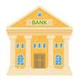 retro bank building Facade of a classic house in vector image