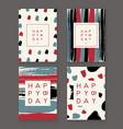 trendy birthday cards vector image