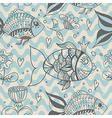 Seamless background with fish pattern vector image vector image