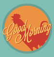 Rooster and sun Good morning vintage style vector image vector image