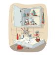 bathroom interior vector image