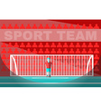 Goalkeeper playing soccer vector image