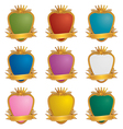 gold emblems vector image vector image