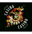 casino logo on a white background vector image