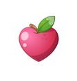 heart fruit icon cartoon vector image