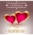 Hearts in golden frames vector image