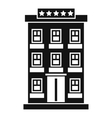 Hotel building icon simple style vector image