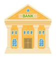 retro bank building Facade of a classic house in vector image