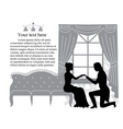 Retro couple vector image
