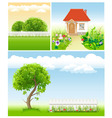 set of garden images - templates for design vector image
