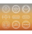 set of line badges and logos vector image