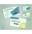 Summer cocktail party business card layout vector image
